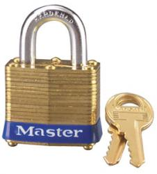 Master Lock No.4 Series Laminated Brass Padlock